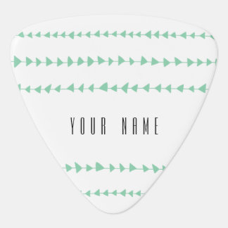 Mint Green White Aztec Arrows Pattern Guitar Pick