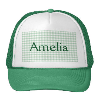 mint green,white,gingham,floral,country chic,girly trucker hat