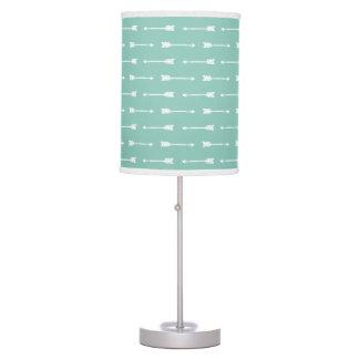 Mint Green & White Modern Arrows Pattern Lamp