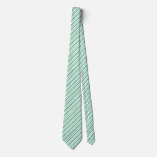 Mint Green & White Striped Double Sided Neck Tie