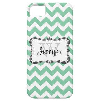 Mint Green & White Trendy chevron pattern iPhone 5 iPhone 5 Case