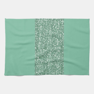 Mint Green with faux glitter Kitchen Towel