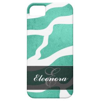 Mint Green Zebra Pattern, Lightning Shape iPhone 5 Covers