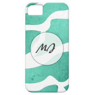 Mint Green Zebra Pattern, Lightning Shape iPhone 5 Case