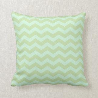 Mint Green Zig Zag Pattern Throw Pillow