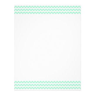Mint green zig zags zigzag chevron pattern letterhead template