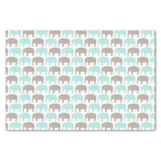 mint-grey baby elephants tissue paper