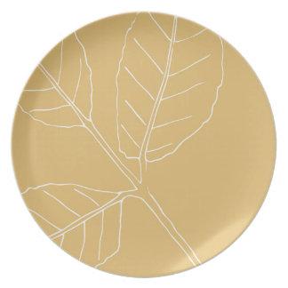 Mint herb design plate