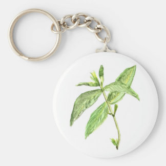 Mint herb keychain