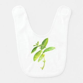 Mint herb Mint watercolour Mint print Bib