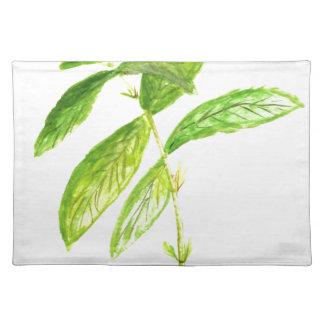 Mint herb Mint watercolour Mint print Placemat