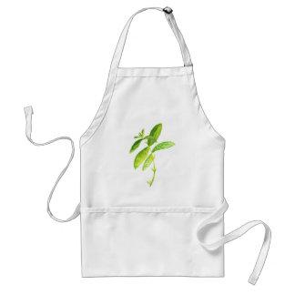 Mint herb Mint watercolour Mint print Standard Apron