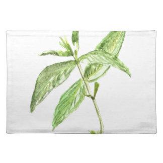 Mint herb placemat