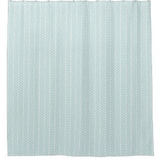 Mint Herringbone shower curtain