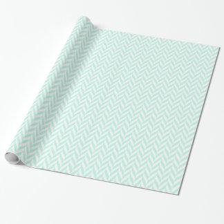 mint herringbone wrapping paper