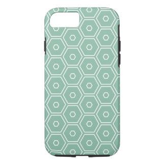 Mint Hexagon iPhone 7 Case