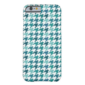 Mint Houndstooth Pattern Barely There iPhone 6 Case