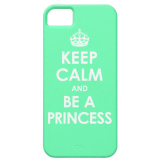 Mint Keep Calm & Be a Princess iPhone 5 Case