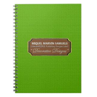 Mint Leaf Pattern Decorative Modern Notebook