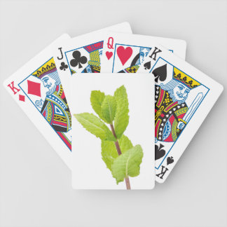 Mint leaves bicycle playing cards