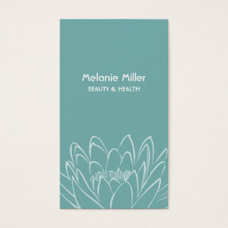 Mint lilypad to flower beauty wellness elegant business card