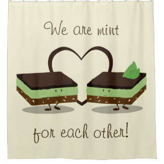 Mint Love Nanaimo Bars   Shower Curtain