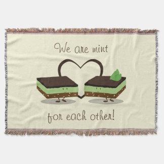 Mint Love Nanaimo Bars | Throw Blanket