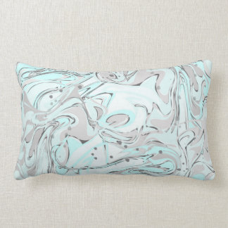 Mint marble texture for trendy house interior lumbar pillow