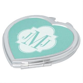 Mint Mint Green Solid Color Vanity Mirror