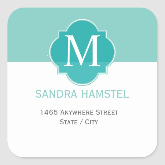 Mint Mint Green Solid Colour Square Sticker