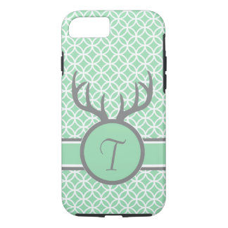 Mint Monogram Antlers iPhone 8/7 Case