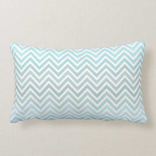 Mint Ombre Chevron Lumbar Pillow