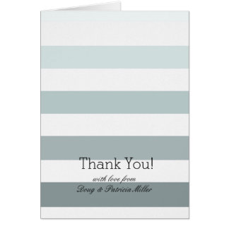Mint Ombre Stripes Thank You Card