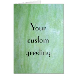 Mint or jade green garden squash photo card