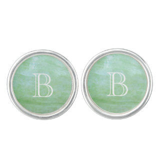 Mint or jade green garden squash photo cufflinks