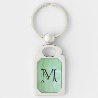 Mint or jade green garden squash photo keychain