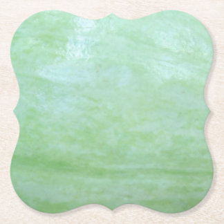 Mint or jade green garden squash photo paper coaster
