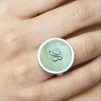 Mint or jade green garden squash photo ring