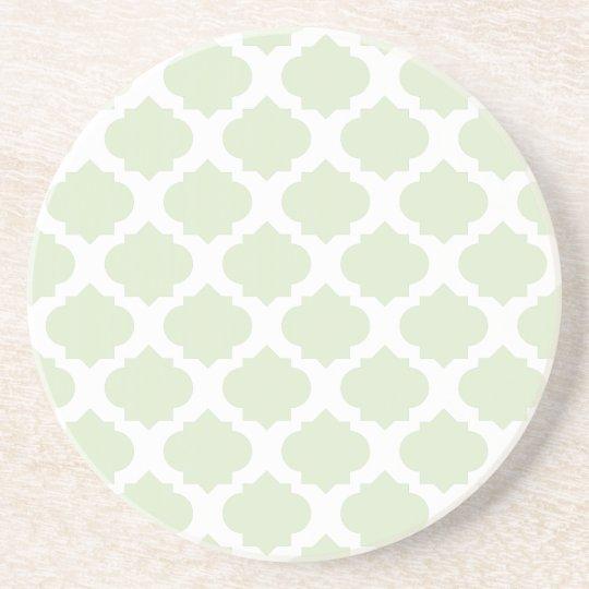 Mint Ornate Pattern Coaster