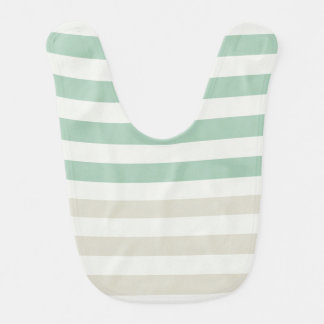 Mint, Pale and White Stripes Bib