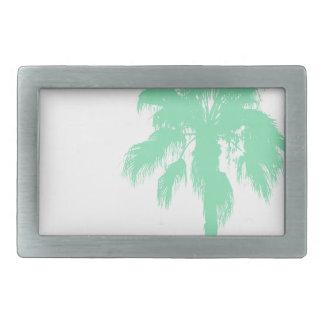 Mint Palm Trees Rectangular Belt Buckle