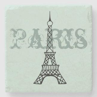 Mint Paris Eiffel Tower Stone Drink Coaster Gift