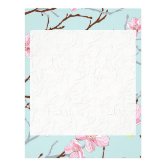 mint,pink,cherry blossom, girly,trendy,beautiful, letterhead design