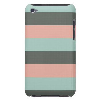 Mint Pink Gray Fashion Trendy Stripes Mod Pattern Barely There iPod Cases