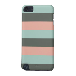 Mint Pink Gray Fashion Trendy Stripes Mod Pattern iPod Touch 5G Cover