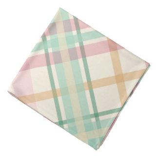 mint pink tartan plaid bandana