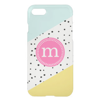 Mint, Pink & Yellow Summer Personalized Monogram iPhone 8/7 Case