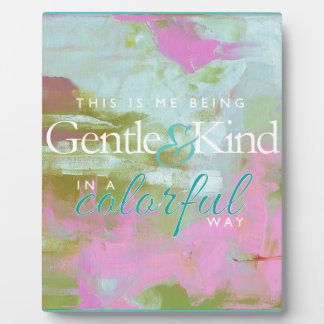 Mint pint colorful oil abstract gentle kind plaque