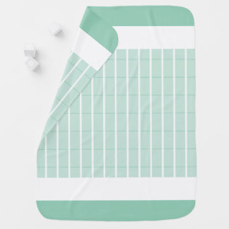Mint-Plaid-Accent's-Baby-Blanket-Two-Sided Baby Blanket
