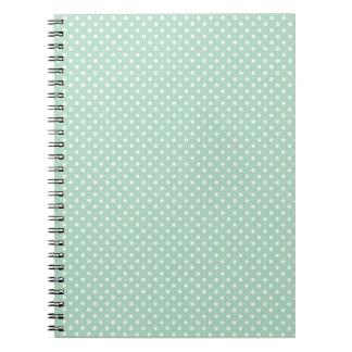 Mint Polka Dot Notebook